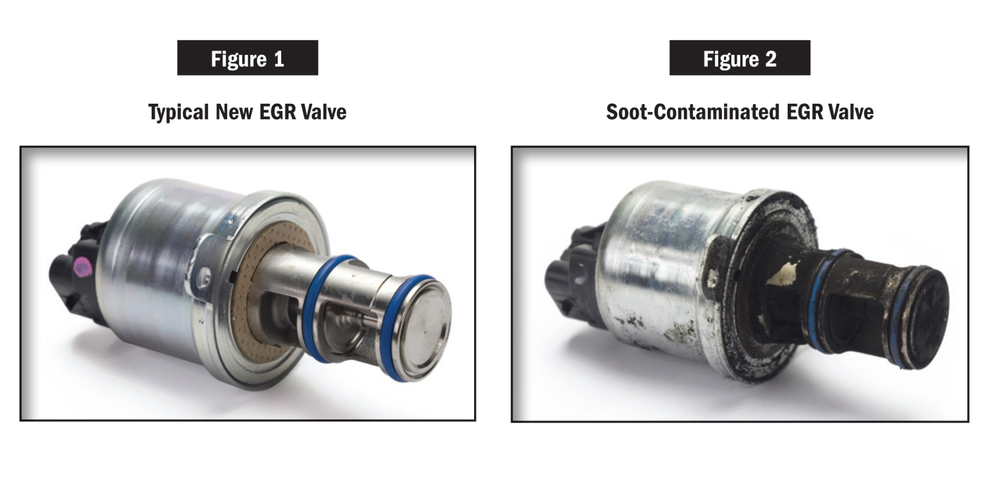 hight resolution of old and new egr valve