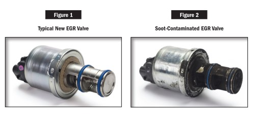 small resolution of old and new egr valve