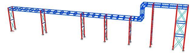 Modelo 3D - Estrutura Metálica Cable Rack