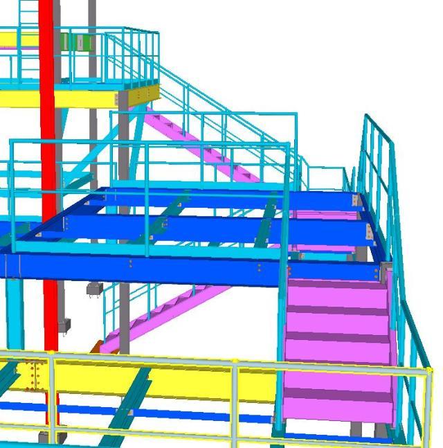 Detalhe segundo andar - Modelo 3D