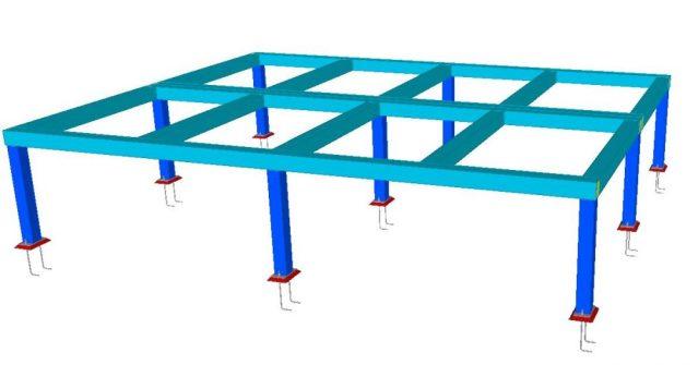 Modelo 3D - Estrutura Metálica de Suporte do Container