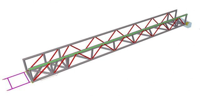 Modelo 3D - Estrutura Metálica da Ponte Móvel