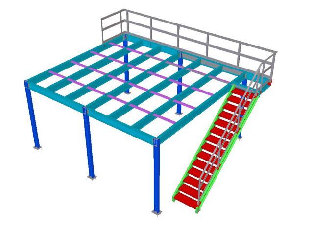 Modelo 3D - Mezanino Metálico