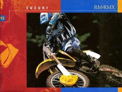1995 Suzuki RM - RMX Brochure - Cover