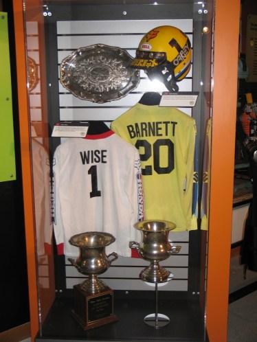vintage motocross gear display