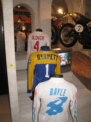 vintage motocross jersey display