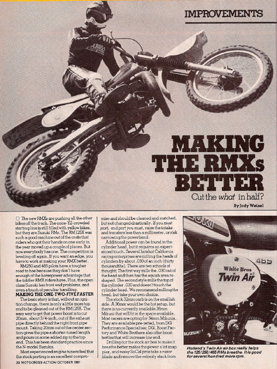 Motocross Action – X Hop-ups - October 1981