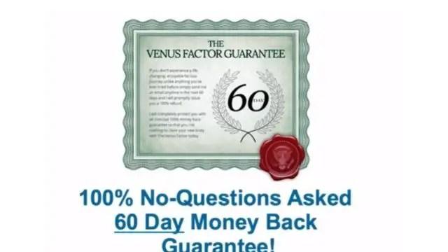The Venus Factor 2.0 Moneyback Guarantee