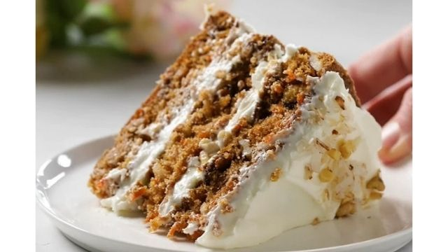 Recipe For Golden Carrot Cake With Coconut Cream Cheese Frosting