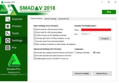 Smadav Antivirus 2018 Rev 12.1 Serial Key