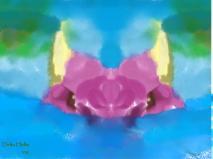 Purple Dragon Painting - Swiming (c) DeltaHellm 2009