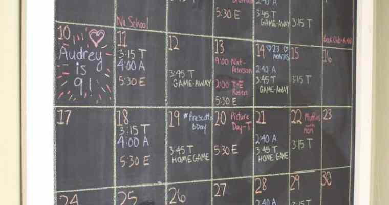 Family Activity Wall Calendar