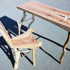 How Are Chairs Made Koala Kare High Chair About Us Full Grownfull Grown A And Desk From The Same Piece Of Redwood 2005