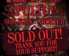 Tonight's Kreator / Sepultura Show is SOLD OUT!