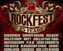 Rockfest 2017 Lineup Announced – Godsmack, Sammy Hagar, RATT, Volbeat and more