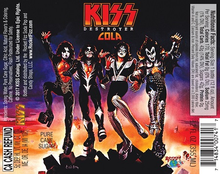 Rocket Fizz Introduces KISS Destroyer Cola