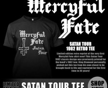 King Diamond Brings Back 1982 Mercyful Fate 'Satan Tour' T-Shirt, Limited