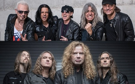 Scorpions / Megadeth Announce 2017 North Amercian Tour