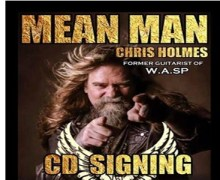 Ex-W.A.S.P. Guitarist Chris Holmes Schedules Record Store Signing Session in Madrid
