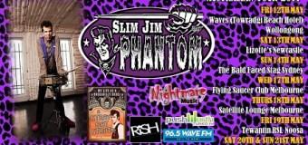 Slim Jim Phantom Trio 2017 Australian Tour Dates – Stray Cats Drummer Slim Jim Phantom