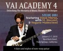 Steve Vai Announces Vai Academy 4.0 with Steve Morse, St. Vincent & Yngwie