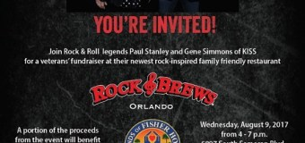 Paul Stanley & Gene Simmons of KISS to Host Orlando Rock & Brews Charity Event