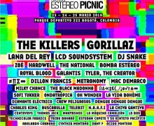 Festival Estéreo Picnic 2018 Lineup w/ Lana Del Rey, Gorillaz, The Killers