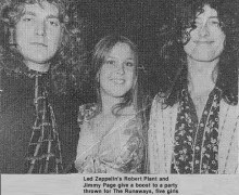 Lita Ford w/ Robert Plant & Jimmy Page of Led Zeppelin – John Paul Jones
