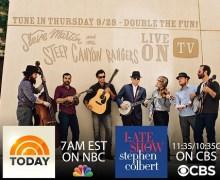 Steve Martin: Today Show & Stephen Colbert 9/28