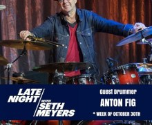"""Anton Fig on Seth Meyers Oct 30 – Letterman, Ace Frehley, Paul Shaffer, KISS Dynasty, """"Sure Know Something"""""""