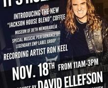 David Ellefson @ Kat's Hog Heaven w/ Ron Keel, Coffee Event