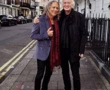 Jimmy Page & Kirk Hammett in London
