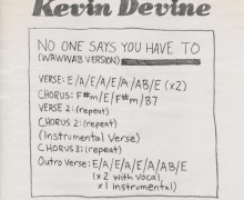 """Kevin Devine """"No One Says You Have To"""" – Chords"""