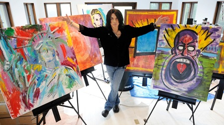 "Paul Stanley Art: ""Working multidimensionally with acrylics on 3 inch plexiglass"""