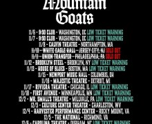 The Mountain Goats 2017 Tour Low Ticket Warning, Dates