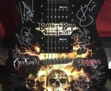 Exodus/Obituary Signed Guitar Winner Will Be Chosen Tomorrow