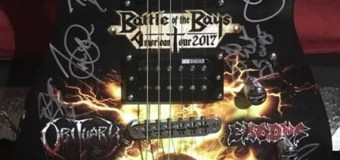 Exodus/Obituary Signed Guitar Winner