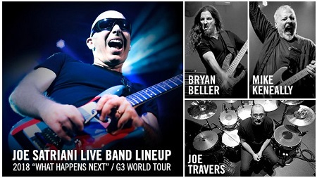 Joe Satriani 2018 Touring Band Lineup Announced
