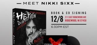 Nikki Sixx Book Signing New Jersey @ Bookends, Directions, Ridgewood, New York, NYC