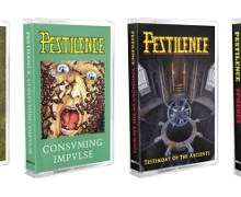 Pestilence Reissues Classic Albums on Cassette – Malleus Maleficarum, Consuming Impulse, Testimony of the Ancients, Sphere