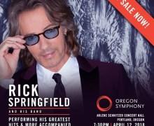 Rick Springfield w/ Oregon Symphony in Portland, Tickets