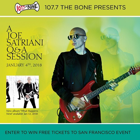 Chance to meet joe satriani 1077 the bone contest full in bloom m4hsunfo
