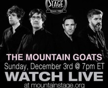 The Mountain Goats to Stream Tonight's Concert @ Mountain Stage Radio Show
