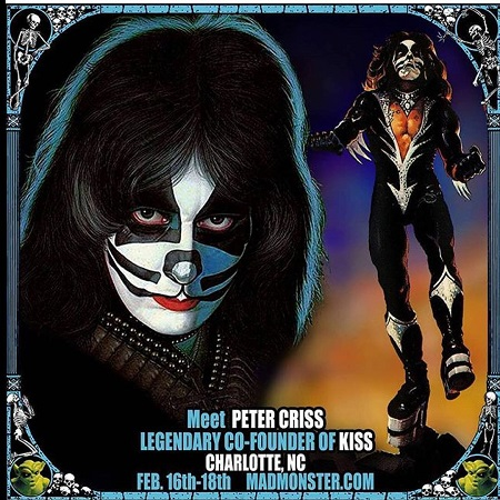 Meet Peter Criss (KISS) @ 2018 Mad Monster Party North Carolina - Charlotte