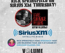Rick Springfield on #Feedback SiriusXM VOLUME