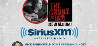 Rick Springfield on #Feedback SiriusXM VOLUME
