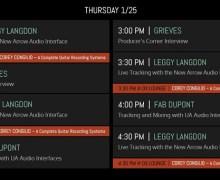 Universal Audio NAMM 2018 Live Stream – Livestream – Schedule