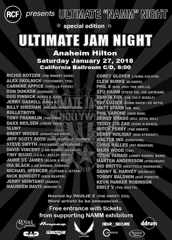 Ultimate Jam Night Anaheim Hilton NAMM 2018