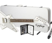 KISS:  Tommy Thayer Epiphone Guitar Giveaway Opportunity – White Lightning