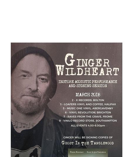 Ginger Wildheart In Store Schedule Uk Bolton Halifax